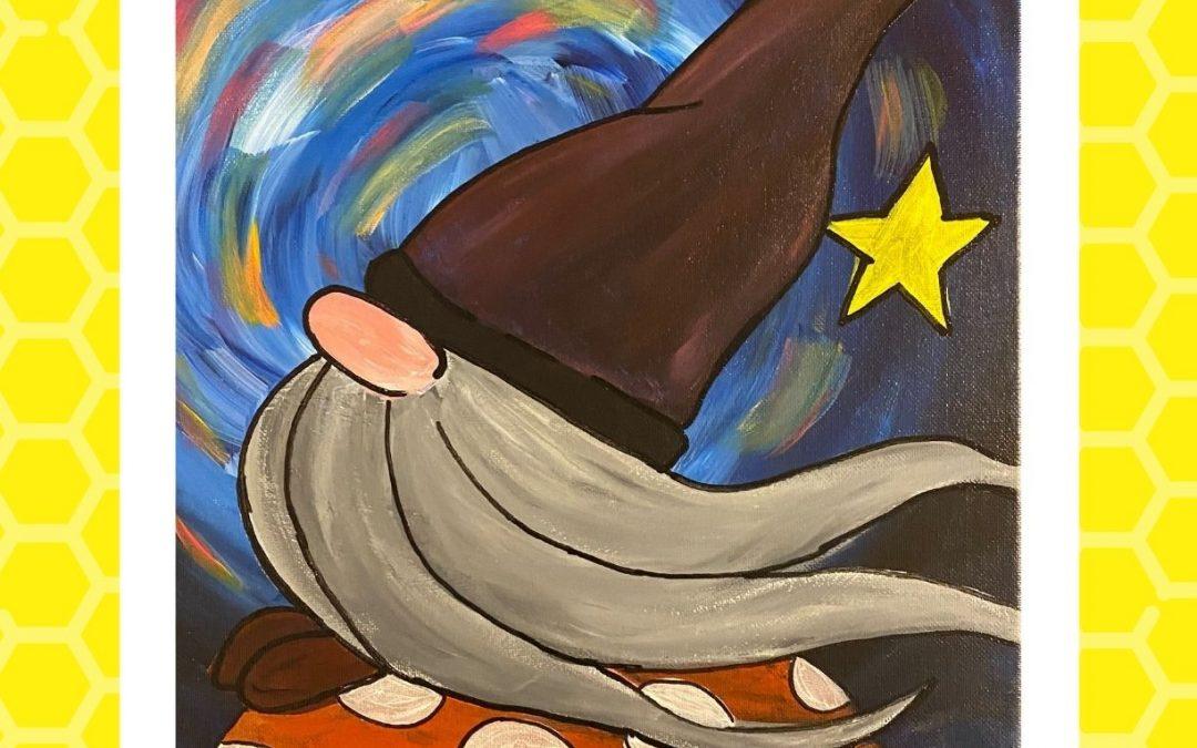 Night Gnome Painting