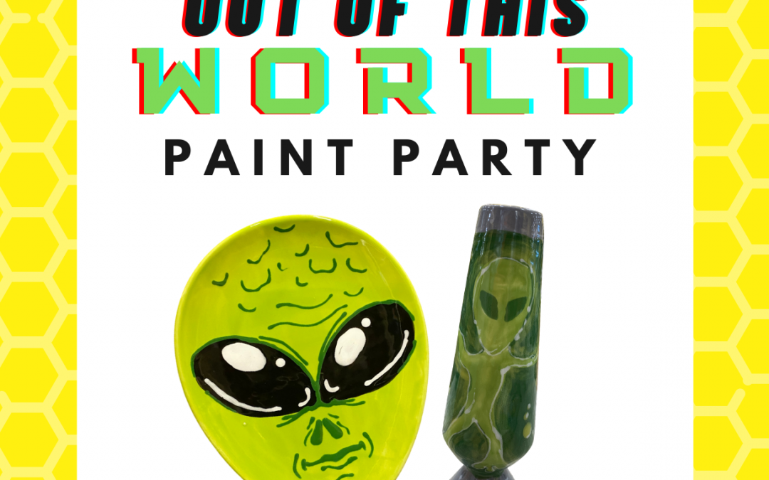 Out of this World Pottery Painting Event